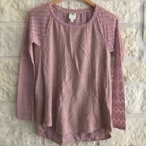 Anthropologie One September Dusty Rose Sweater XS